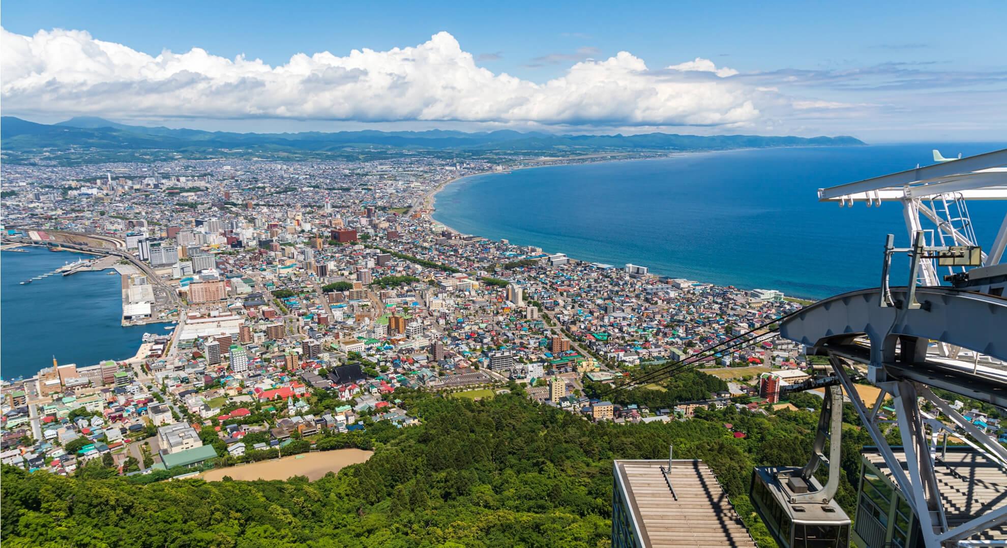 昼間の函館山からの景色